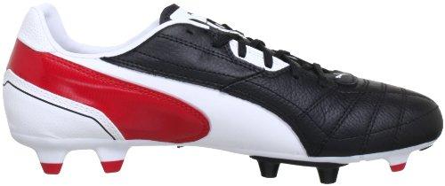 Puma Momentta Fg, Scarpe da calcio Uomo Nero (Schwarz (black-white-ribbon red 02))