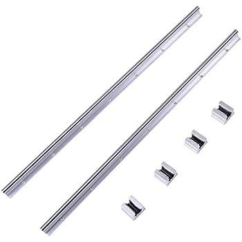 la Machine de Soudage au Laser Guide Lin/éaire du Rail CNC Pi/èces SBR12 2300mm// 90,56inches 12mm 1 PCS Guide Lin/éaire 2 PCS SBR12UU Curseurs pour la Machine-Outil la Plieuse etc