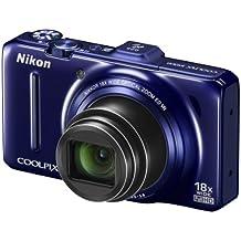 "Nikon Coolpix S9300 Fotocamera Digitale Compatta, 16,1 Megapixel, Zoom 18X, 3200 ISO, LCD 3"", colore: blu"
