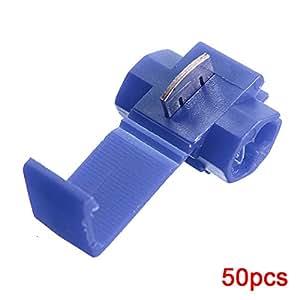 Sonline 50pcs Splice rapide Connecteurs Verrouillage cosses a sertir electrique electrique - Bleu