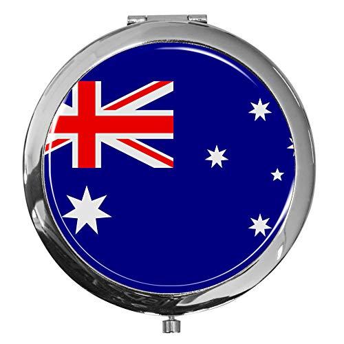 Große Pillendose mit Spiegel, FLAGGE AUSTRALIEN, 3-fach unterteilt #2877108