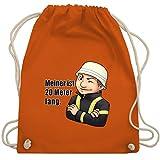 Shirtracer Feuerwehr - Feuerwehrmann - Meiner ist 20 Meter lang. - Unisize - Orange - WM110 - Turnbeutel und Stoffbeutel aus Bio-Baumwolle