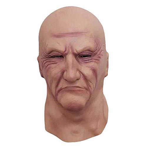 GadgetKing Realistische Mann Maske alte männliche Verkleidung Halloween Kostüm Bruiser Türsteher Latex gruselig Glatze Gummi Vollkopf Kleid