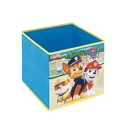 ARDITEX PW12118 Contenedor - Organizador Textil con Forma de Cubo Plegable de 31x31x31cm de Nickelodeon-Patrulla Canina