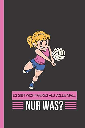 Es gibt Wichtigeres als Volleyball: Nur was?: Notizbuch, Journal & Tagebuch Für Volleyball-Spielerinnen, Trainer und Fans - Geschenk Für Kinder, Schule & Freizeit, weit liniert (120 Seiten, 6x9