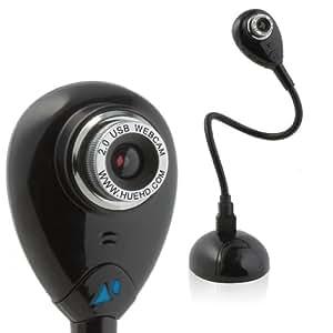 Caméra USB HUE HD pour Windows et Mac (Noir)