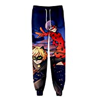 BSHDUFN Miraculous Ladybug Trousers Trousers 3D Color Printing Stylish Long Pants Jogging Loose Sweatpants with Drawstrings (Color : A06, Size : Height-185cm(Tag XXL))