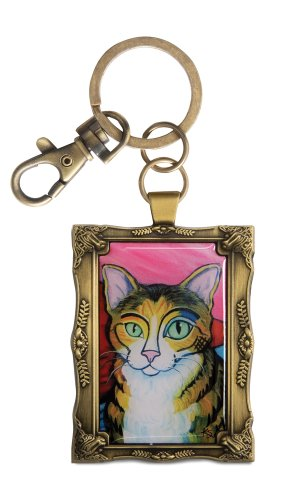 pavilion-gift-company-12031-paw-palettes-keychain-2-by-2-3-4-inch-brown-tabby-pawcasso