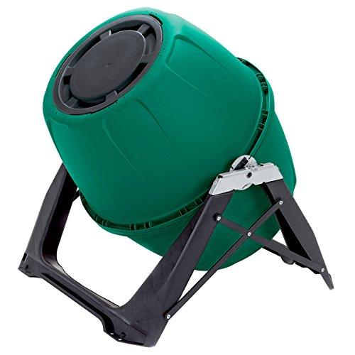 UPP Trommel-Komposter 180L Kompostierer | Composter | interne Belüftung | Sicher vor Ungeziefer (Grün)