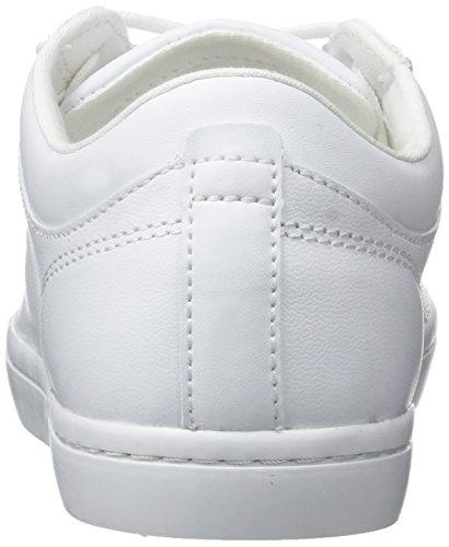 Lacoste Straightset Bl 1, Formatori Bassi Donna, Bianco Bianco (Wht)