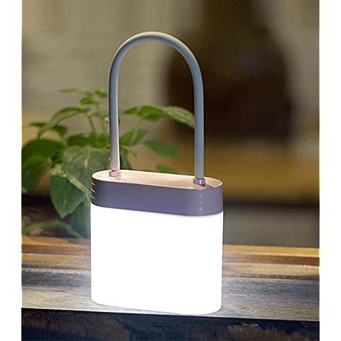 Nuovo LED notte luce luce notturna lucchetto USB ricarica bambini forma piccolo tavolo lampada da comodino (1.5 w) ,