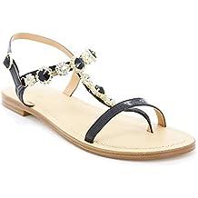 Toocool - Scarpe donna sandali infradito gioiello strass ciabatte flat  Queen Helena 6003 a28882c661f