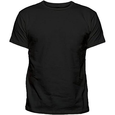 2k16Apr Mens New Plain Crew Neck Smart Casual Tshirt Top 6 pack multipack [Black ,XXL]