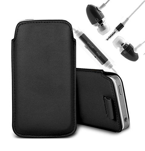 Brun/Brown - Xiaomi Mi 2S Housse deuxième peau et étui de protection en cuir PU de qualité supérieure à cordon avec stylet tactile par Gadget Giant® Noir/Black & Ear Phone