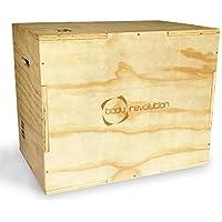 BODY REVOLUTION RESISTENTE madera plyometric Jump Caja - 3 Variable Heights 50cm, 60cm and 75cm - IDEAL PARA CROSSFIT Y PLYO Entrenamiento De Fortalecimiento