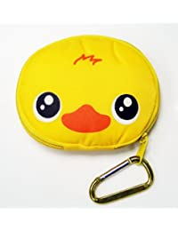 Reusable Shopping Tote Bag Folded Into A Ducky Face Yellow