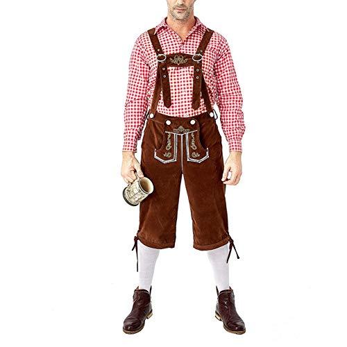 Red Guy Kostüm - JstDoit Adult Oktoberfest Bayerischer Mann Kostüm Truhe Bier Guy Short Lederhosen Set Kostüm