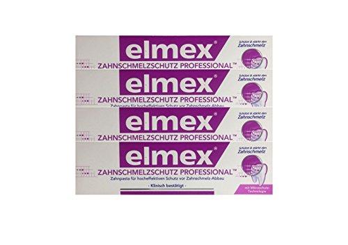 4x ELMEX Zahnschmelzschutz PROFESSIONAL Zahnpasta 75ml PZN 11072327 Zahncreme