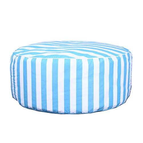 Canapés Pouf Poire De Haricot Géants De Jardin De Sacs De Haricot Ronds Préside Les Sacs Moelleux Portables De Haricot (Color : Blue, Size : 39.4 * 39.4 * 15.7in)