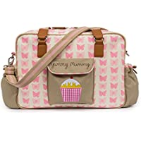 Pink Lining Yummy Mummy Baby Changing Nappy Bag - Pink Butterflies