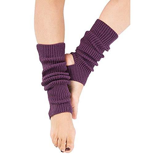 Zomiee Yoga-Socken für Frauen Mädchen Workout Socken ohne Zehenpartie Training Tanzstulpen, violett