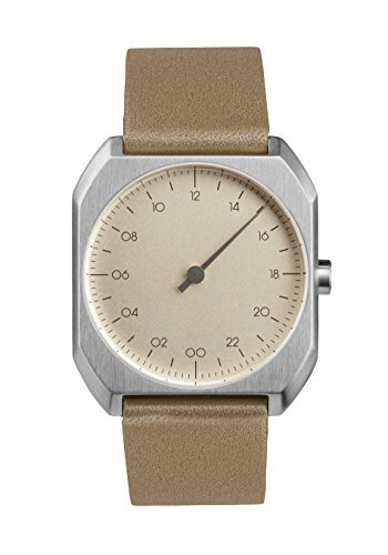slow-Mo-09-Beige-Leather-Silver-Case-Creme-Dial-Unisex-Quartz-Watch-with-Beige-Dial-Analogue-Display-and-Beige-Leather-Strap