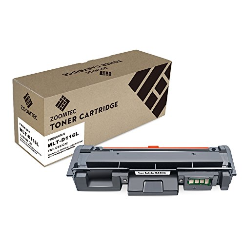 ZOOMTEC MLT-D116L D116L Cartuccia Toner Compatibile per Samsung Xpress SL-M2625 SL-M2625D SL-M2825 SL-M2825DW SL-M2825ND SL-M2675 SL-M2675F SL-M2675N SL-M2675FN SL-M2875 SL-M2875FW (Nero, 1 Pack)