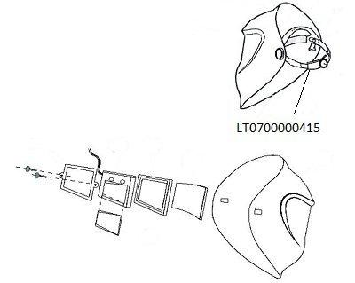 ESAB 0700000415Head Gear für Warrior Tech Helm