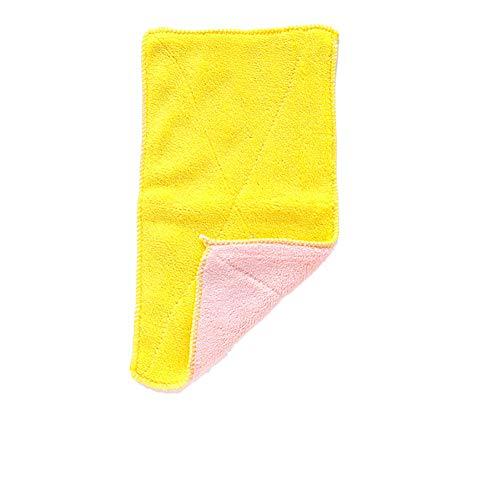 Antibakterielle Handtuch (Nowbetter Küchen-Handtuch, doppelseitig, antibakterielle Mikrofaser, geruchsneutral, Scheuertuch für antihaftbeschichtete Topfschüsseln, 25 x 5 cm, Pink Yellow, 25 * 5CM)