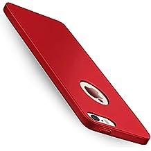 Funda iPhone SE, Joyguard iPhone SE/5/5S Case con [Protector de Pantalla de Cristal Templado Transparente] [Ultra-Delgado] [Ligera] Anti-rasguños Carcasa para Cubierta iPhone SE/5/5S - 4.0 pulgada - Rojo