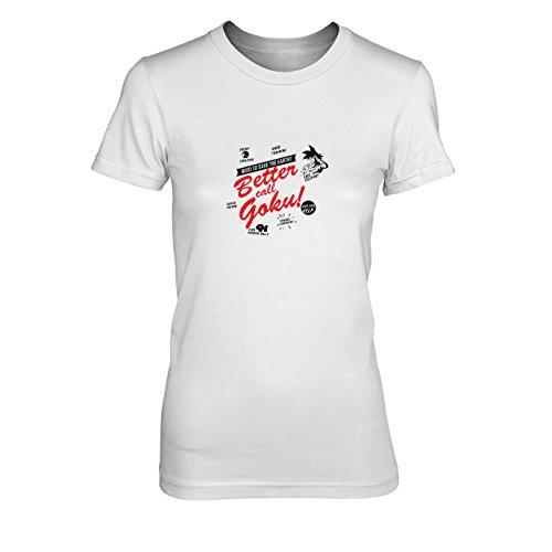 DBZ: Better call Goku - Damen T-Shirt, Größe: XL, Farbe: weiß