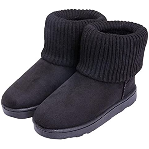 FEITONG Mujer Tejido de punto Lana Tobillo Nieve Botas Invierno Calentar Zapatos