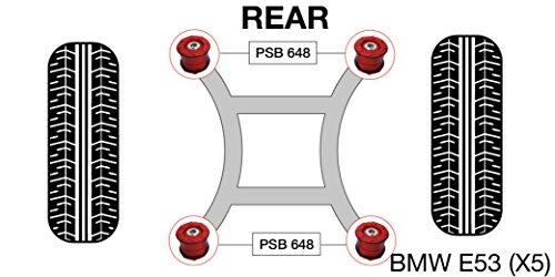 PSB polyuréthane Bush X5 E53 (00-06) arrière Sub Cadre bushing kit - Psb648