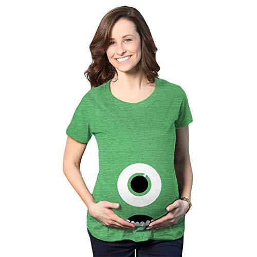 Crazy Dog Tshirts - Maternity Monster Eye Ball Funny