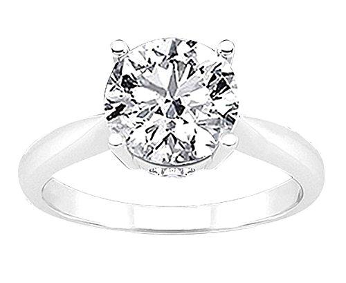 disponibilità nel Regno Unito a1b43 6421f 3 carati di diamante solitario 4 poli gioielli d'oro ...