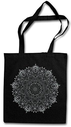 Mandala I Shopper Reusable Hipster Shopping Cotton Bag Einkauftasche Einkaufstasche Tasche Stofftasche Jutebeutel Beutel Buddhismus Hinduismus Hindu Shiva Buddha Dharma Govinda Indien India Om