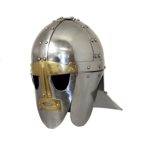 Urban Designs Imported Antique Replica Angelsächsischer Sutton Hoo Ceremonial Helm aus dem 6. Jahrhundert, - Magneto X Men Kostüm