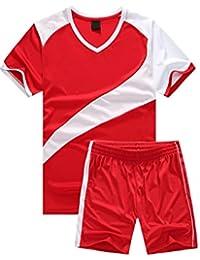 BOZEVON Hombres Niño Trajes de Fútbol Ropa Deportiva Conjunto de Camiseta y  Pantalones Cortos Traje de 95965cb37040