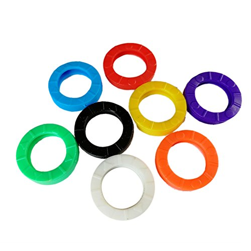 32Pack gemischt Farben Schlüsselanhänger Ringe Auto Motorrad Fahrrad Schlüssel Kappen Tags Identifier sich Ringe Silikon PVC # S0062(mix-s) A style