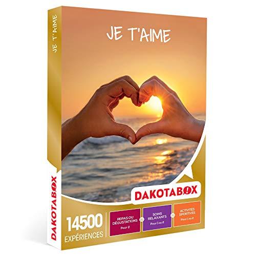 DAKOTABOX - Je t'aime - Coffret Cadeau Multi-thèmes - 1 activité pour 1 ou 2...