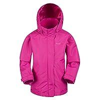 Mountain Warehouse Fell Kids 3 in 1 Jacket - Full Zip Casual Jacket, Water Resistant Rain Coat, Detachable Inner Fleece, Packable Hood All Season Coat Travelling