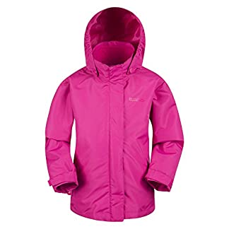 Mountain Warehouse Fell Kids 3 in 1 Jacket - Water Resistant Triclimate Rain Jacket, Detachable Inner Jacket, Packaway Hood Kids Coat, for Winter Walking, Hiking 11
