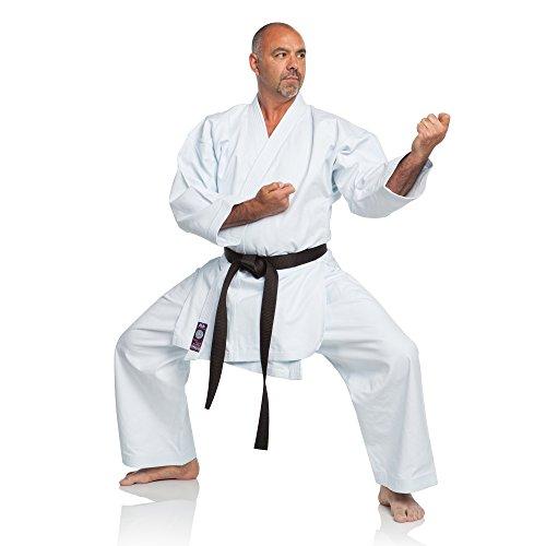 Ronin Marke Shiai Violett Label GI-Ultra Middleweight Karate Gi-280. Snappy Leinwand Material-Okinawan Tournament Cut/Professional Karateanzug/Perfekt für Training & Shiai, Jungen, Weiß, 2 (Kinder Jiu-jitsu Gi-mädchen)