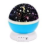 USB-drehende LED-Stern-Himmel-Projektor-Lampen-Stimmung / dekoratives Licht für Baby-Kinderzimmer / Dekoration, Blau durch Yeelan
