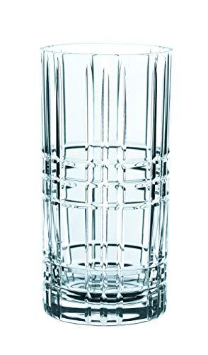 Square Glas (Spiegelau & Nachtmann, 4-teiliges Longdrink-Set, Kristallglas, 445 ml, Square, 101049)