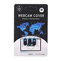 ‏‪KKmoon 3PCS Webcam Cover Shutter Privacy Protector Plastic Slider Camera Cover Privacy Sticker for Webcam for iPad for iPhone Mac PC Laptops Mobile Phone Ellipse(Black)‬‏