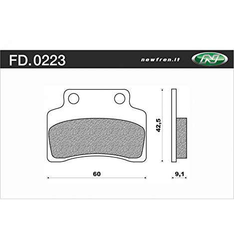 Remblokset Newfren FD0223 CPI Popcorn - Keeway Voor - Scooter Active Organic
