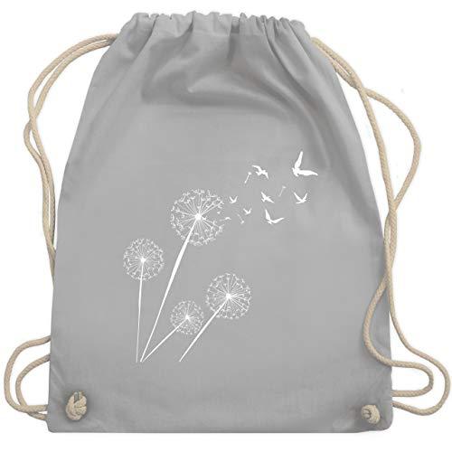 Shirtracer Symbole - Pusteblume Vögel - Unisize - Hellgrau - WM110 - Turnbeutel und Stoffbeutel aus Bio-Baumwolle