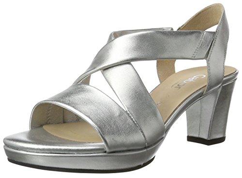 Gabor Shoes Damen Comfort Offene Sandalen, Silber (silber (A.OBL) 10),  6 UK/39 EU