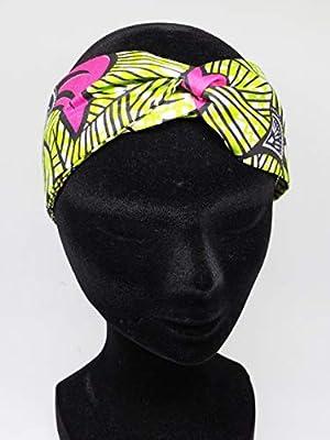 Twisted headband hairband bandeau en wax rose vert